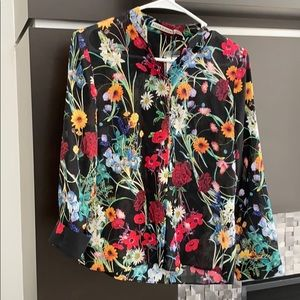 NWT Alice & Olivia Midnight Meadow LS Shirt